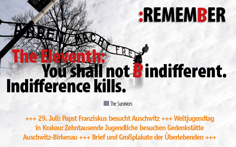 The Eleventh: You shall not B indifferent. Indifference kills.