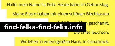Website find-felka-find-felix.info